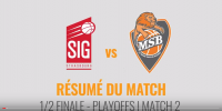Résumé Jeep Elite 2017/2018 Playoffs Demi-Finales #2 Strasbourg vs MSB