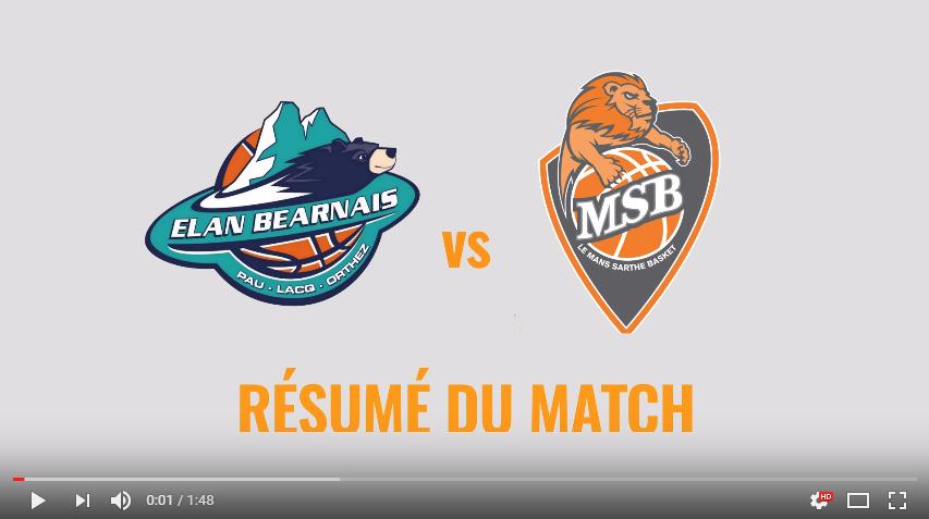 Résumé vidéo - Pau vs MSB - 28ème journée