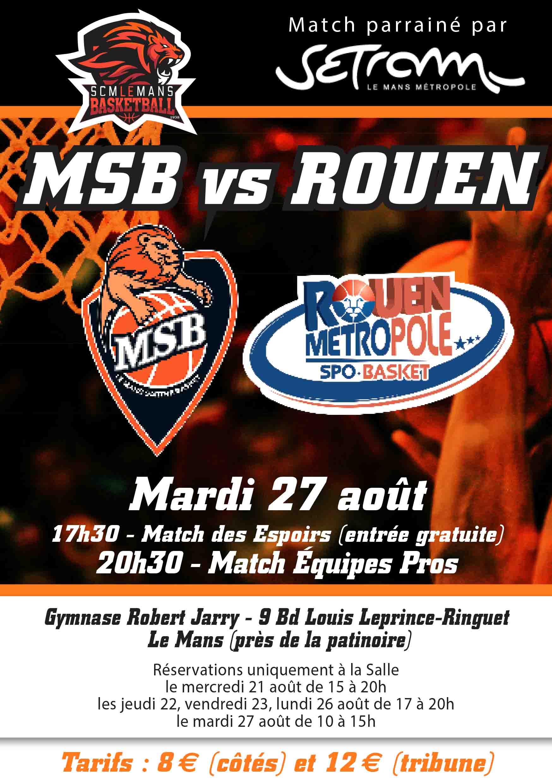Pré saison 2019-2020 MATCH_MSB_vs_ROUEN_-27_aout_2019